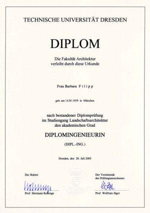 Diplomurkunde Tech. Universität Dip.-Ingenieur