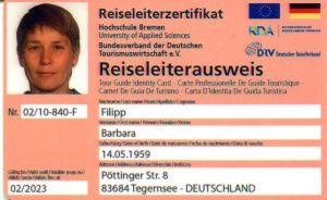 Reiseleiterausweis RDA 2023