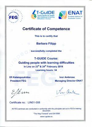 T-Guide-Zertifikat - Führung für Personen mit Lernschwierigkeiten